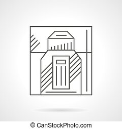 Male perfumery products flat line vector icon - Male...