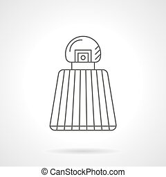 Perfume vial flat line vector icon - Perfume vial with...