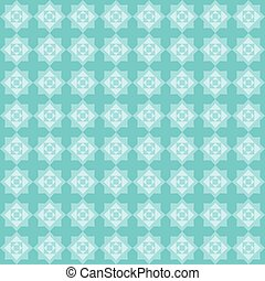 eight pointed star blue pattern - Geometric seamless pattern...