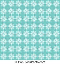 eight pointed star blue pattern - Geometric seamless pattern...