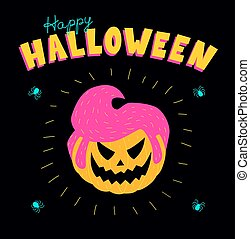acid rockabilly pumpkin halloween - Halloween greeting card....