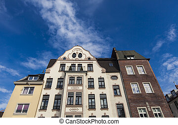 House in Dusseldorf - View of the exterior of the townhouse...