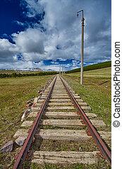 Vintage Railway track in Georgia