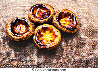 Egg Tart - Pasteis de nata, typical Portuguese egg tart...