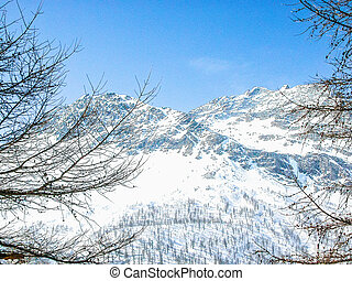 HDR Bernina, Switzerland - High dynamic range (HDR) Piz...