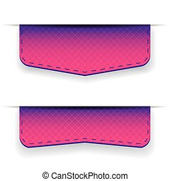 Purple ribbon set vector
