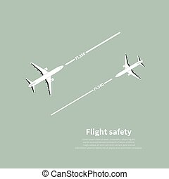 Aviation safety infographic. Scene 4. Vector illustration.