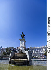 Monument of Felipe IV in Madrid - View of the monument of...