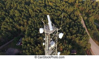 HD - Movement around a telecommunications tower