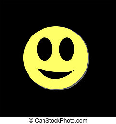 Modern yellow laughing happy smile. Happy emoticon. Isolated...
