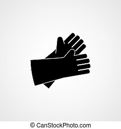 Protective clothing. Welder gloves icon. Vector