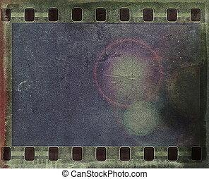 grunge film strip background and texture