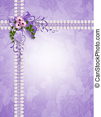 Wedding invitation lavender daisies - Image and illustration...