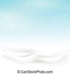 Winter snow background - Christmas background with winter...