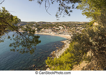 view to Cassis from scenic route de cretes between Cassis...