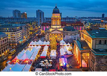 Christmas market in Berlin - Christmas market, Deutscher Dom...