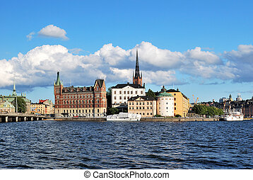 Stockholm, Riddarholmen - Stockholm in the evening Island...