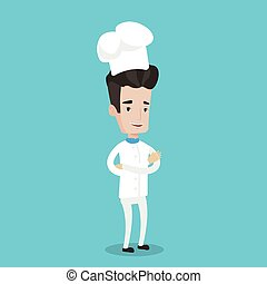 Confident male chief cooker with arms crossed. - Chief...