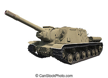 Self-propelled gun ISU-152 Year: 1943 Weight: 46 t 152 mm...