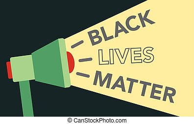 Black Lives Matter Illustration with Megaphone