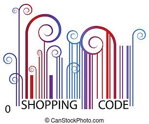 Shopping Barcode - An artsy image of a shopping barcode