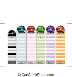 Pricing Chart - An image of a starburst pricing chart