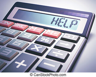 Help Calculation Business Finance - Solar calculator showing...