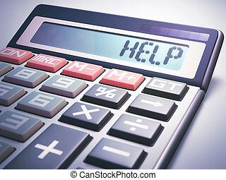 Help Calculation Business Finance - Solar calculator showing...