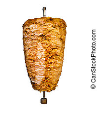 Isolated Middle East Grilled Chicken Kebab Meat - Grilled...