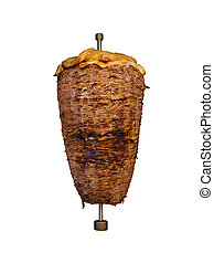Middle Eastern Grilled Lamb Shawarma Meat Isolated - Middle...