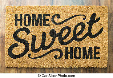 Home Sweet Home Welcome Mat On Floor - Home Sweet Home...