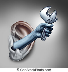 Ear Therapy Concept