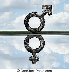 Equal Rights Concept - Equal rights concept as a symbol of a...
