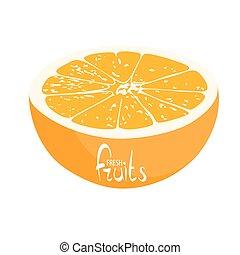 Half of juicy orange