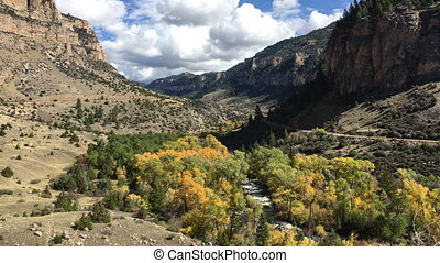 Tensleep Creek Wyoming Fall Colors - Tensleep Creek Wyoming...
