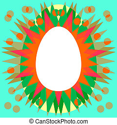 Red orange green yellow blue brown pattern with clear white...
