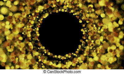 Glowing golden circle particles video animation - Glowing...