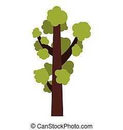 Tall tree icon, flat style - Tall tree icon. Flat...
