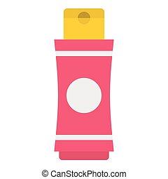Deodorant icon, flat style - Deodorant icon. Flat...
