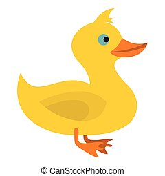 Duck icon, flat style - Duck icon. Flat illustration of duck...