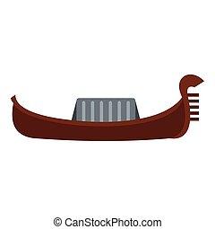 Gondola icon, flat style - Gondola icon. Flat illustration...