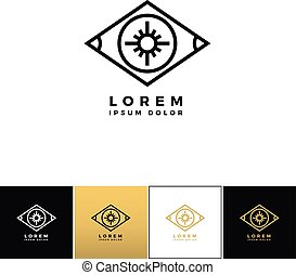 Eye logo or looking control vector icon - Eye vector logo or...