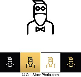 Hipster man fashion vector icon