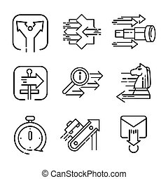 arrow icon set vector illustration design
