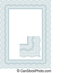 Classic guilloche border for diploma or certificate