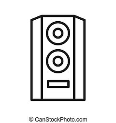 hifi audio speaker vector illustration design