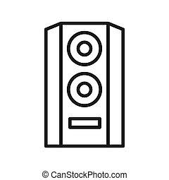 hifi audio speaker vector illustration design