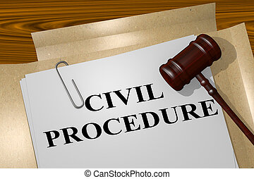 Civil Procedure - legal concept - 3D illustration of 'CIVIL...