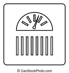 Scale icon, outline style - Scale icon. Outline illustration...