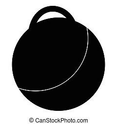 Fitness ball icon, simple style - Fitness ball icon. Simple...
